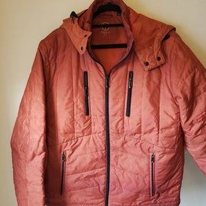 T-tech tumi orange quilted jacket